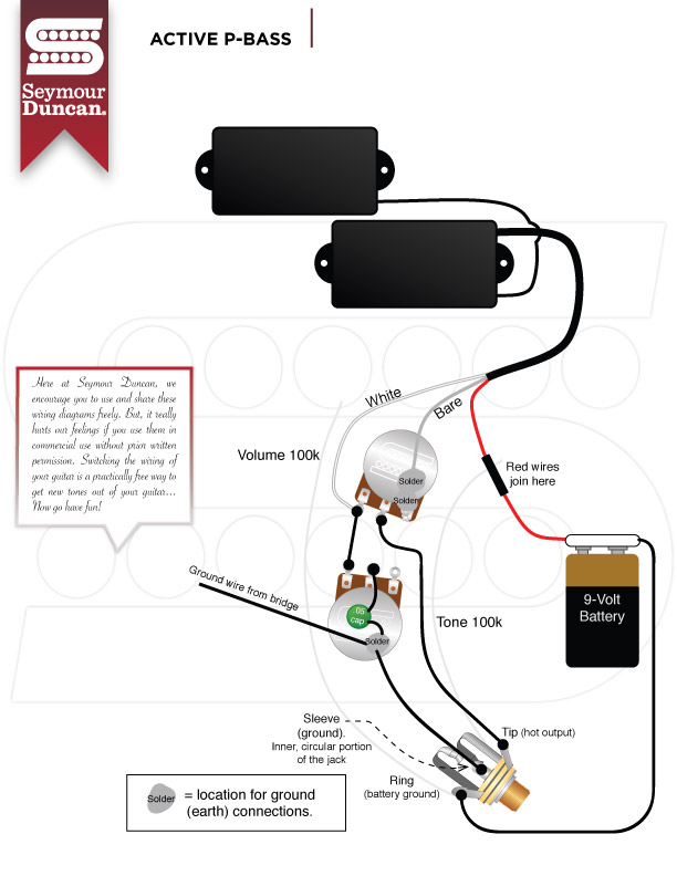 SeymourDuncan_Active_Pbass fender pickup wiring diagram stratocaster wiring diagram \u2022 free active pickup wiring diagram at edmiracle.co