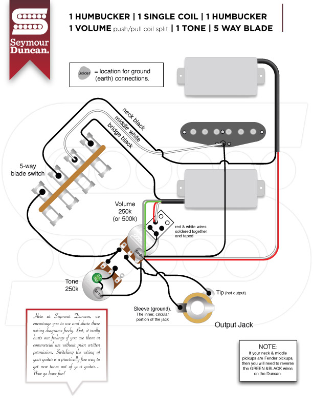 SeymourDuncan_HSH_5W_1VppSPL_1T guitar wiring guitar nucleus Telecaster 3-Way Switch Wiring Diagram at gsmx.co