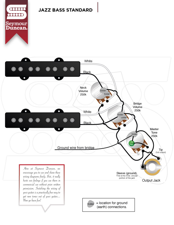 SeymourDuncan_JazzBass_Standard wiring diagram seymour duncan guitar wiring diagrams 1 pickup wiring diagram for seymour duncan pickups at bakdesigns.co